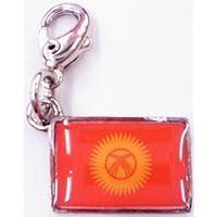 NATIONALFLAG 国旗柄ファスナーホルダー キルギス共和国 07188-8