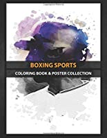 Coloring Book & Poster Collection: Boxing Sports Fascinating Metal Designed With Love Cartoons