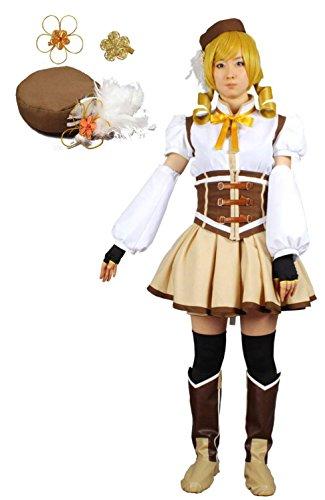 MilicaBooks 魔法少女まどか マギカ 巴マミ 魔法少女服 Lサイズ 11点セット ソウルジェム付き コスプレ 衣装