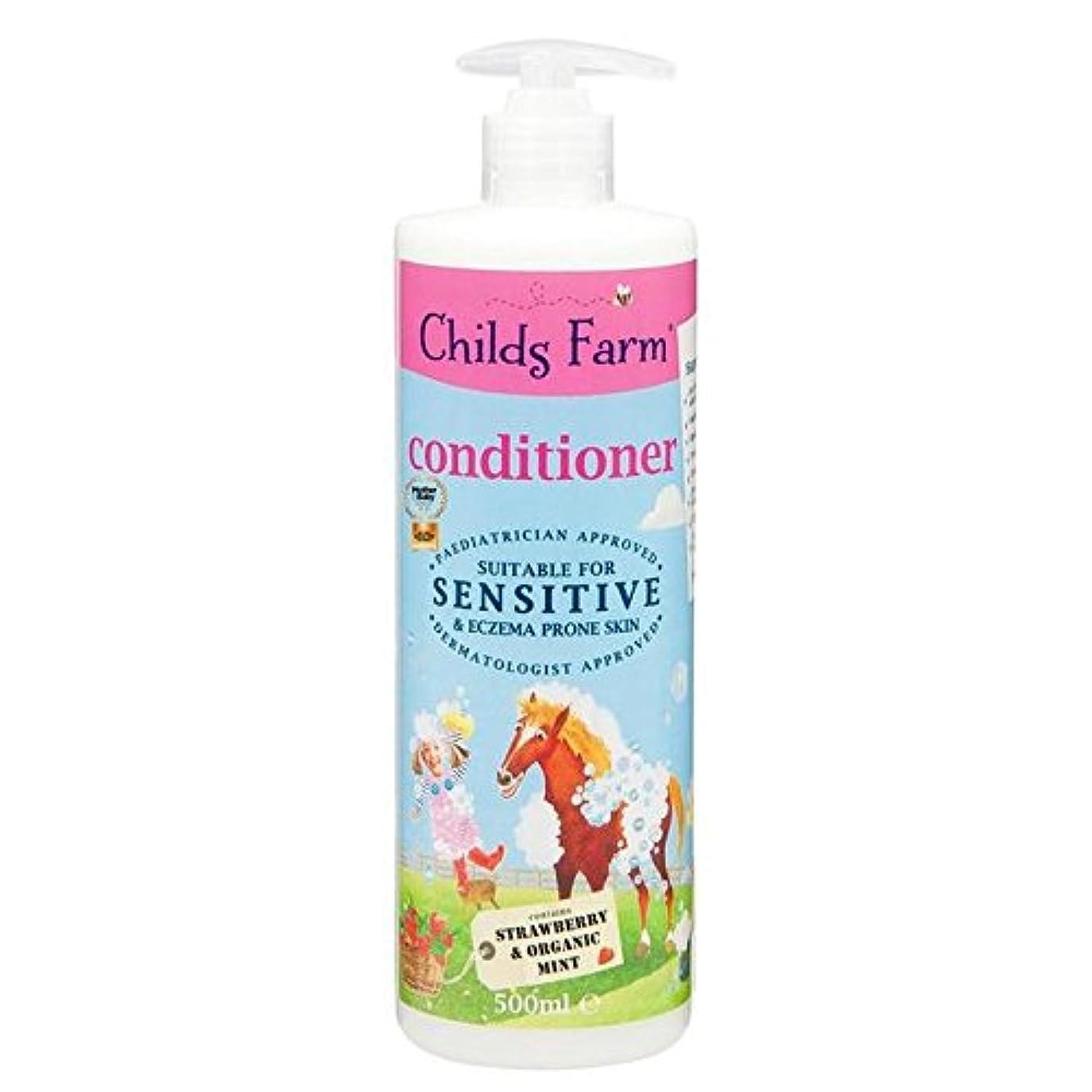 九時四十五分怖い繊毛Childs Farm Conditioner for Unruly Hair 500ml (Pack of 6) - 手に負えない髪の500ミリリットルのためのチャイルズファームコンディショナー x6 [並行輸入品]