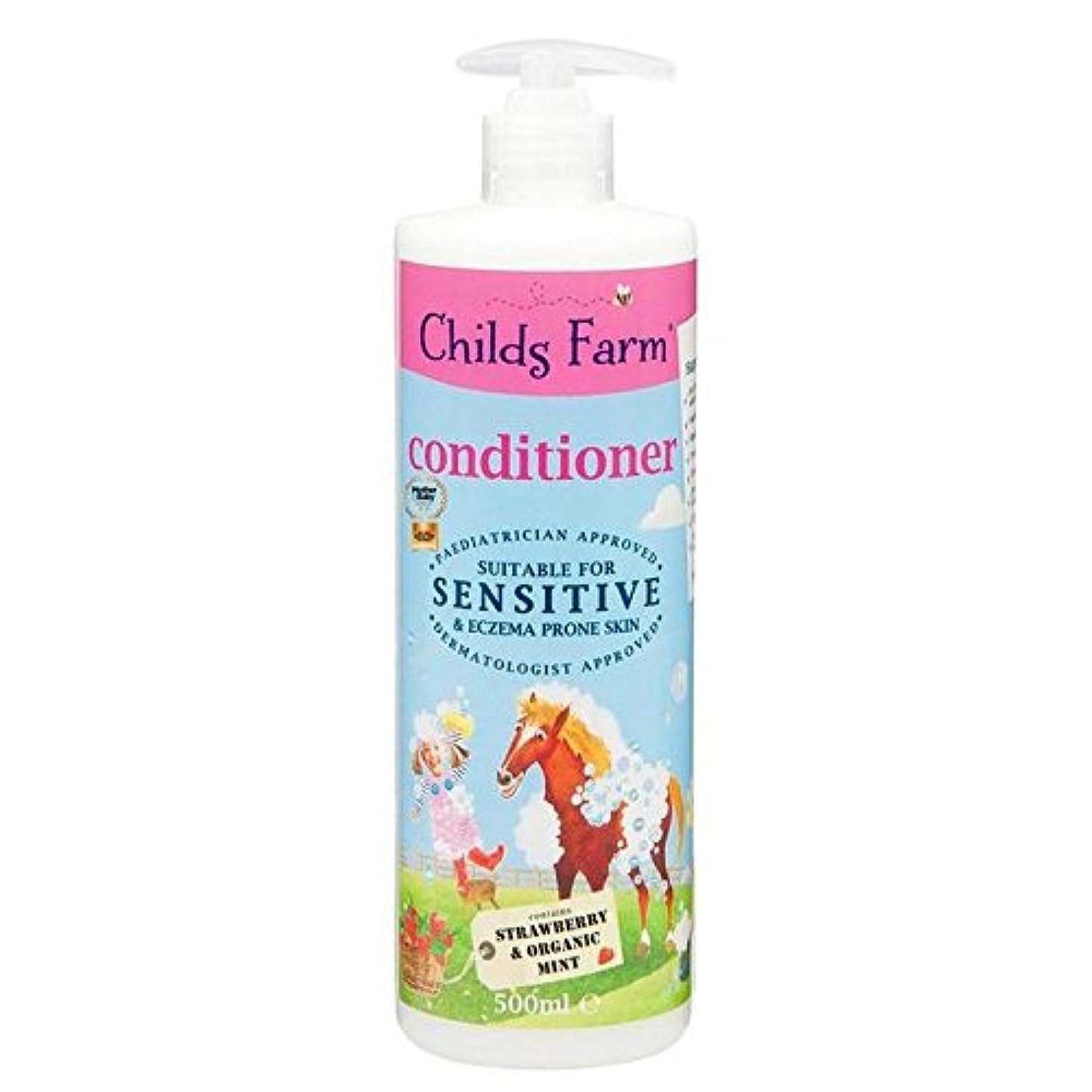 バンカーテンション一回Childs Farm Conditioner for Unruly Hair 500ml (Pack of 6) - 手に負えない髪の500ミリリットルのためのチャイルズファームコンディショナー x6 [並行輸入品]