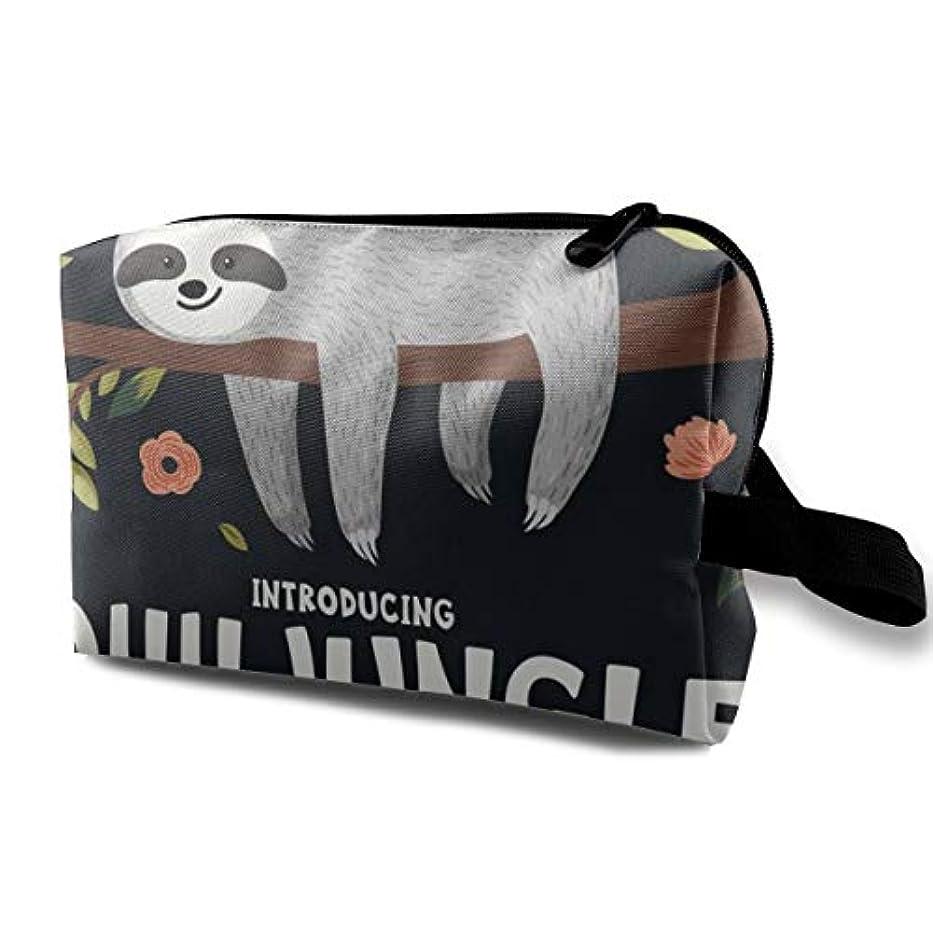 シュガービジターボイドCute Baby Sloth On The Tree 収納ポーチ 化粧ポーチ 大容量 軽量 耐久性 ハンドル付持ち運び便利。入れ 自宅?出張?旅行?アウトドア撮影などに対応。メンズ レディース トラベルグッズ