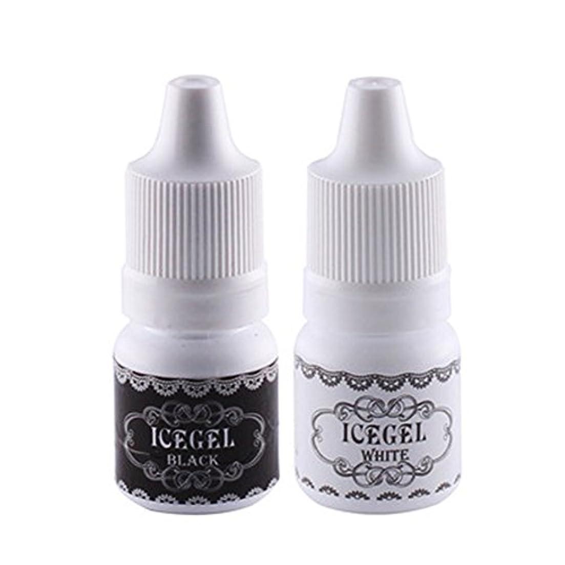 パイプ繊維ペインティングアートペン用インク ホワイト&ブラック