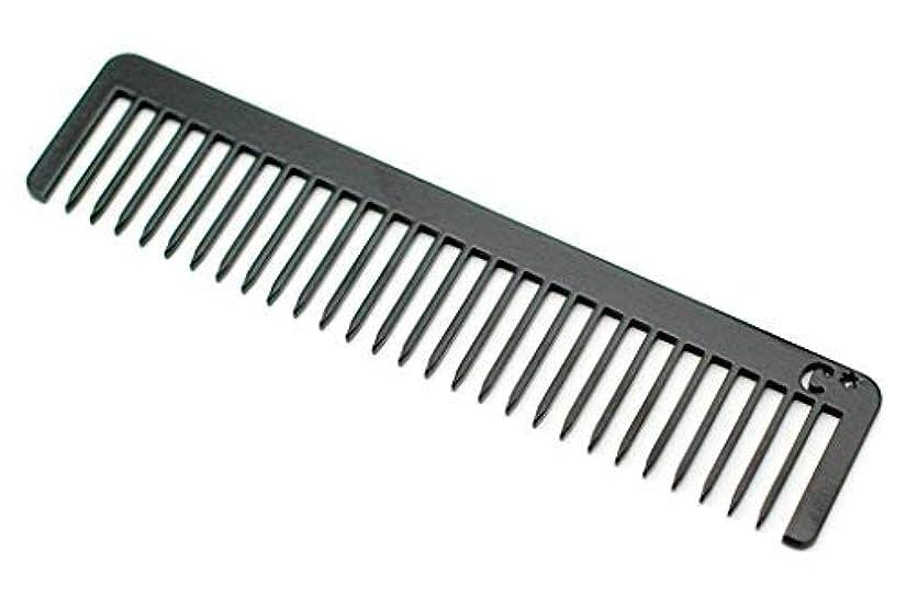 脅威満足できる篭Chicago Comb Long Model No. 5 Jet Black, 5.5 inches (14 cm) long, Made in USA, wide-tooth comb, ultra smooth coated...