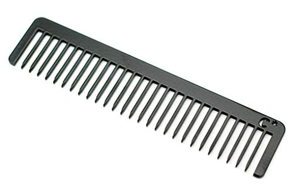 Chicago Comb Long Model No. 5 Jet Black, 5.5 inches (14 cm) long, Made in USA, wide-tooth comb, ultra smooth coated...