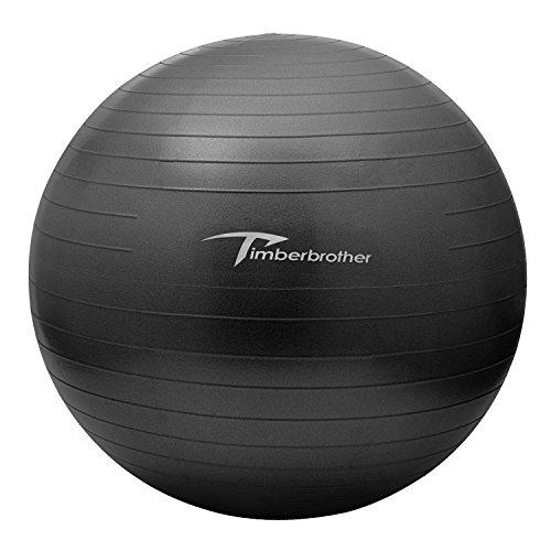 RoomClip商品情報 - Timberbrother バランスボール フットポンプ付き (ブラック, 65cm)