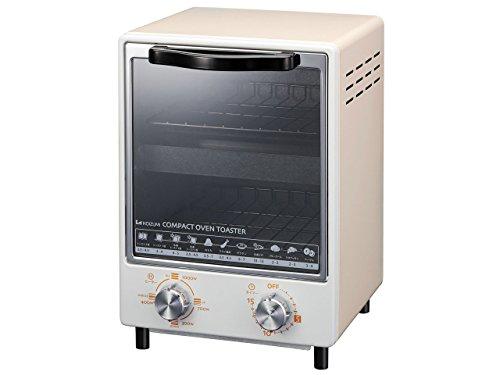 コイズミ オーブントースター 縦型2段 1000W クリーム ...