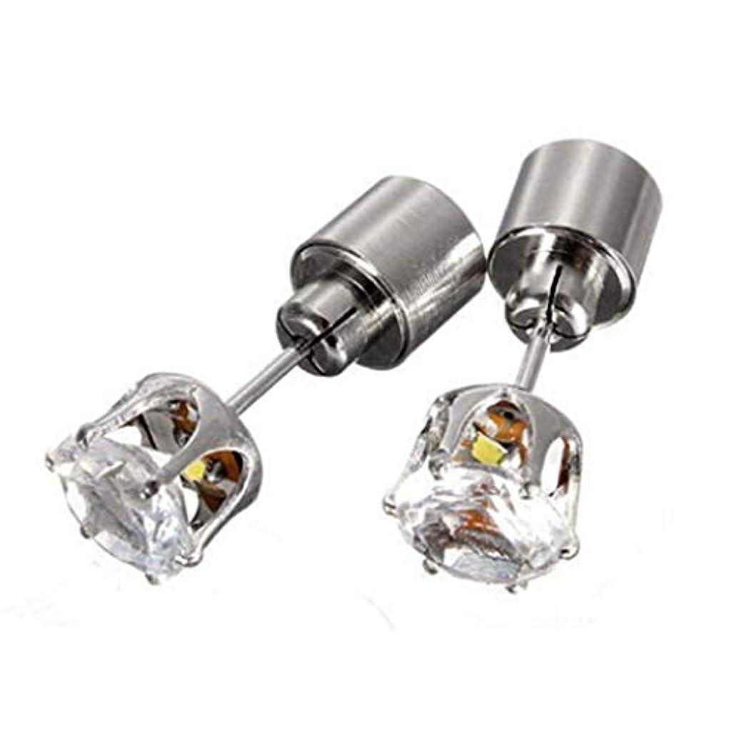 主張家ウェイターOSMNICE LEDイヤリングスタッド輝く点滅ステンレス鋼イヤリングスタッド ファッションスタッドピアス敏感な耳のための低刺激性
