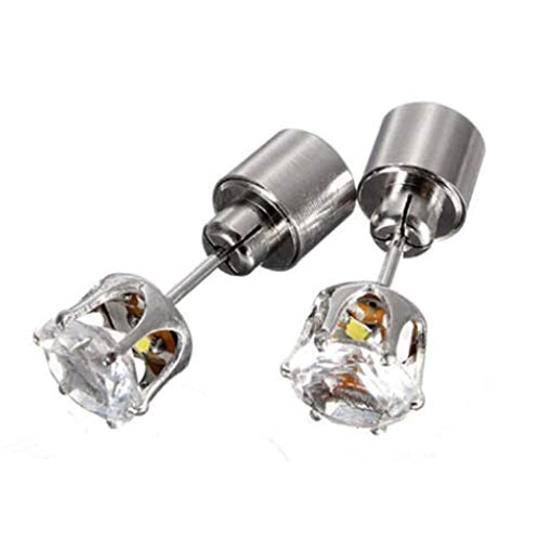 OSMNICE LEDイヤリングスタッド輝く点滅ステンレス鋼イヤリングスタッド ファッションスタッドピアス敏感な耳のための低刺激性