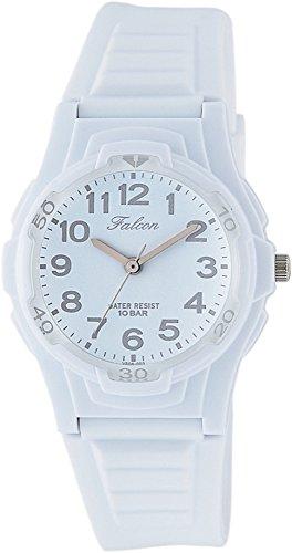 [シチズン キューアンドキュー]CITIZEN Q&Q 腕時計 Falcon ファルコン アナログ表示 10気圧防水 ウレタンベルト ホワイト グレー VS06-003