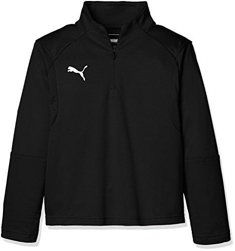 PUMA プーマ サッカー ジュニアウインド LIGA トレーニング 1/4 ジップトッフ 65586403 ボーイズ プーマ ブラック/プーマ ホワイト