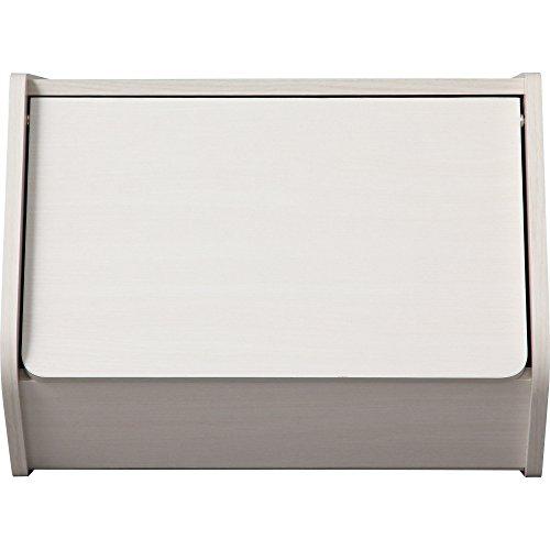 アイリスオーヤマ スタックボックス 扉付き 幅40×奥行38.8×高さ30.5cm オフホワイト STB-400D