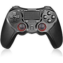 Maxues 連射 PS4 コントローラー ワイヤレス Pro/Slim ver6.20対応 DUALSHOCK 2重振動 6軸機能搭載 Bluetooth 無線接続 ゲームパッド ゲームコントローラー イヤホンジャック スピーカー内蔵 (PC対応)