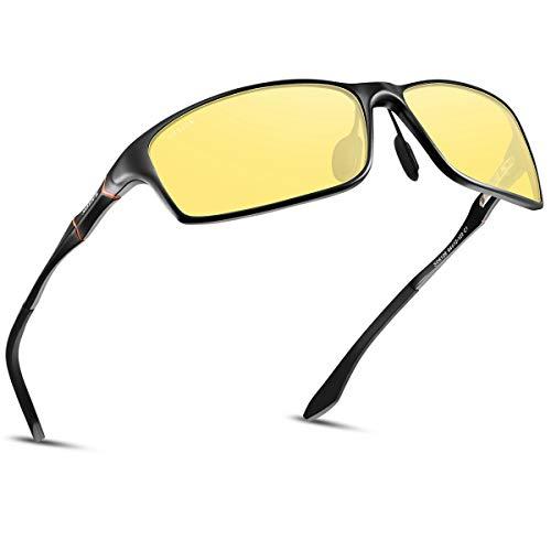 夜間サングラス メンズ 夜釣り 夜間運転用 偏光レンズ 偏光サングラス 釣り 夜間運転サングラス スポーツ 夜間メガネ ドライブ