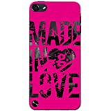 CaseMarket 【ポリカ型】 apple アイポッド タッチ 第5世代 iPod-touch5 ポリカーボネート素材 ハードケース [ Made in Love - Pink Paint ]