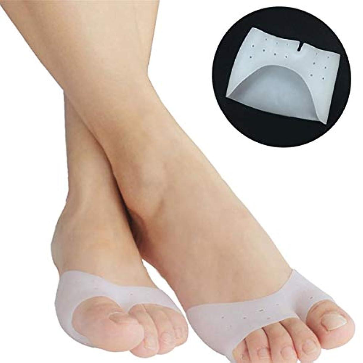 分類する砂利生まれ1 Pair Super Soft Silicone Toe Sleeve Ballet Shoe High Heels Toe Pads Gel Foot Care Tool For Foot Protecting Massage