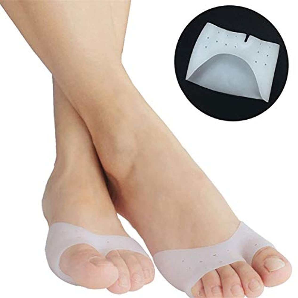 改革謙虚な生まれ1 Pair Super Soft Silicone Toe Sleeve Ballet Shoe High Heels Toe Pads Gel Foot Care Tool For Foot Protecting Massage