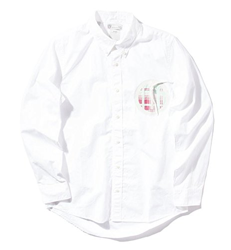 VISVIM Juneau Weld L/S Giza Broad シャツ WHITE ホワイト 白 ( 1 )