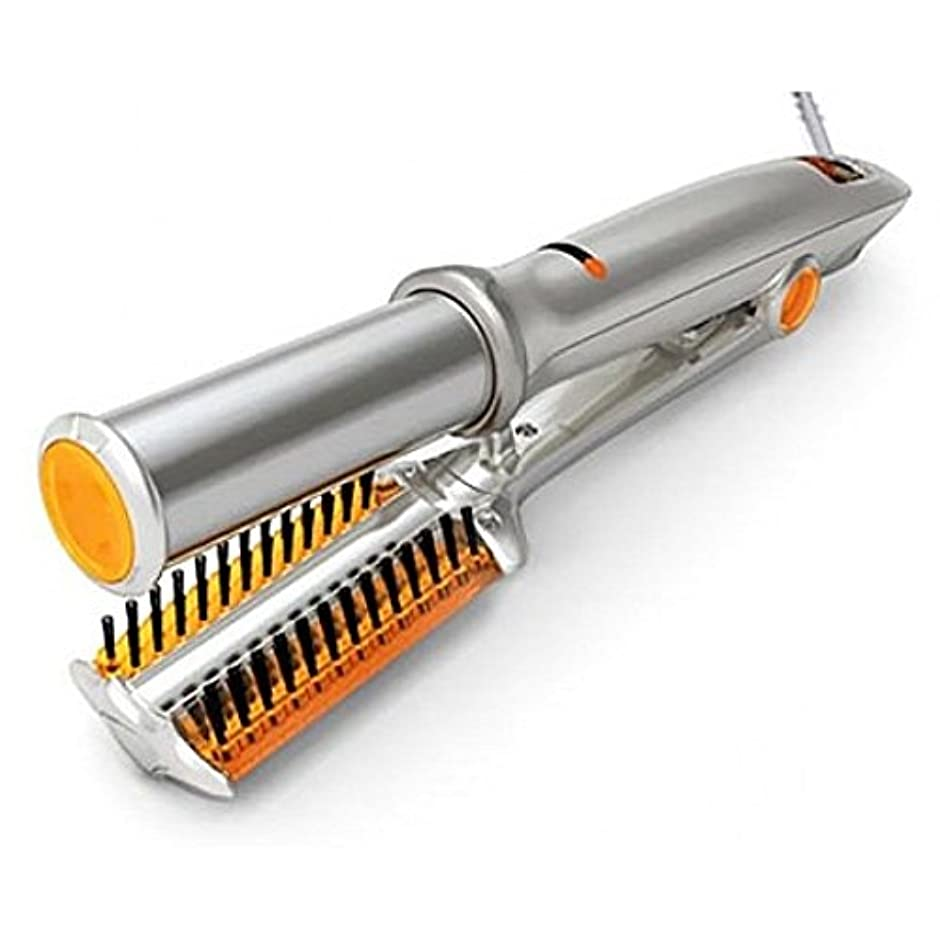 寄り添う迷信死ミニイオンヘアカーラー自動ストレートヘアスプリント2 In 1乾式ストレートスタイリングツール、環境にやさしい多機能カールクリップUS/EU / UK Plug