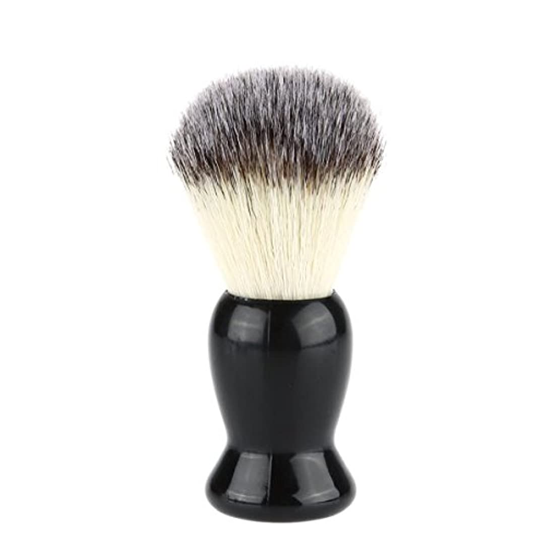 サワー予防接種する造船Superb Barber Salon Shaving Brush Black Handle Face Beard Cleaning Men Shaving Razor Brush Cleaning Appliance...