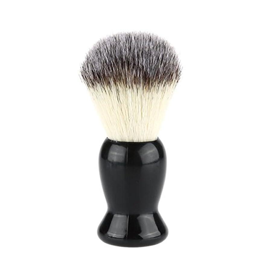 用量回転させる余韻Superb Barber Salon Shaving Brush Black Handle Face Beard Cleaning Men Shaving Razor Brush Cleaning Appliance...