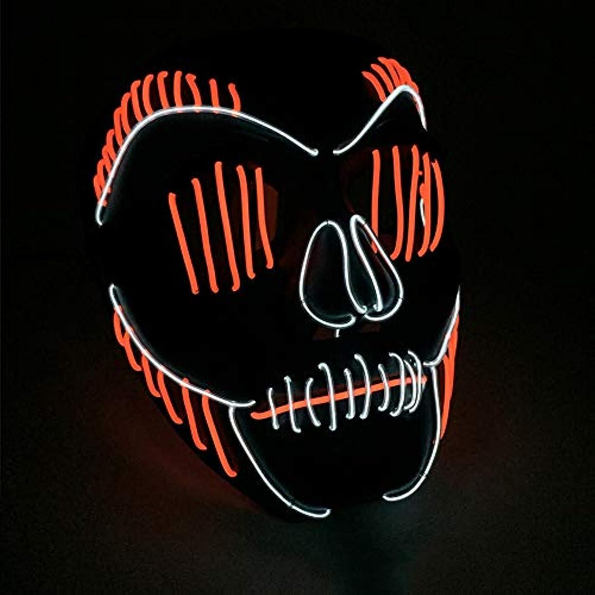 ブレンド褒賞セイはさておき小さなスリット口 かすかな イルミネーション LED マスク ハロウィン マスク ダンサー プロム パーティー ELワイヤー プロップ (18×18Cm) MAG.AL