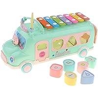 KESOTO 3イン1 車おもちゃ ノックピアノ 木琴 子どもおもちゃ 教育玩具