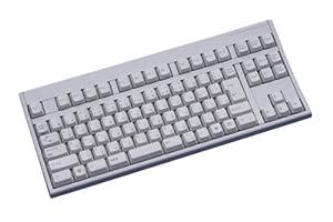 富士通コンポーネント 新カーブド構造(カーブドステップスカルプチャ)テンキーレスキーボード USB・日本語配列・ライトグレー FKB8769-052