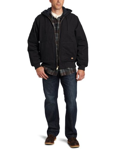 DickiesメンズSanded Duck Hooded Jacket US サイズ: M カラー: ブラック