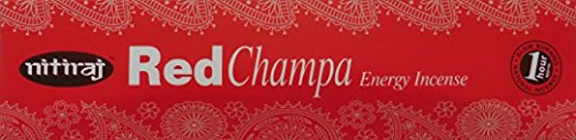 酔っ払いマットレスロードブロッキングNitiraj Red Champa Natural Energy Incense 25gm Single Packet