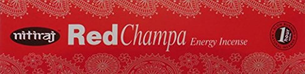分泌する放射する島Nitiraj Red Champa Natural Energy Incense 25gm Single Packet