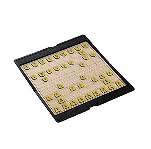 (イスイ)YISHUI 折り畳み式 ミニ磁気 将棋ゲーム 携帯 財布 ポケット チェス ボード ゲーム