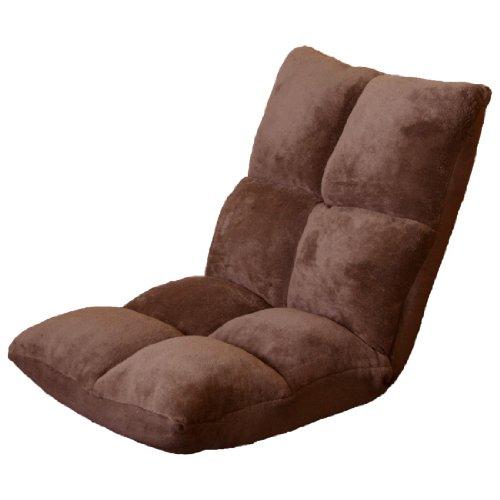 タンスのゲン 座椅子 低反発 42段階 リクライニング 1人掛けソファ マイクロファイバー ブラウン 65170003 17