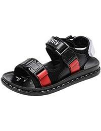 COMVIP 男の子 カジュアル サンダル 柔らかい プレゼント ビーチサンダル 夏用靴 キッズシューズ 軽量 滑り止め 誕生日のプレゼント ブラック