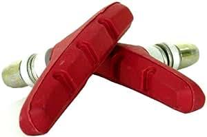 アサヒサイクル avantrigger ブレーキシュー(Vブレーキ用) レッド 06513