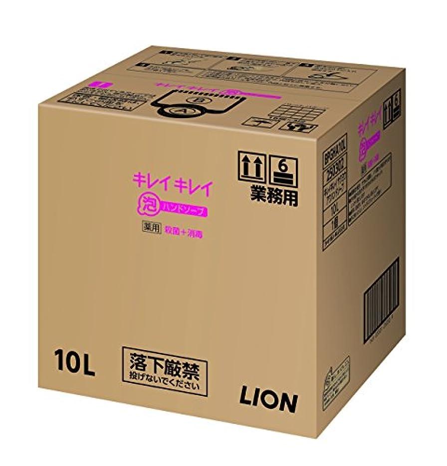 面積化学者除外する【業務用 大容量】キレイキレイ 薬用 泡ハンドソープ シトラスフルーティの香り 10L(医薬部外品)