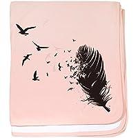 CafePress – Birds Fly Away – スーパーソフトベビー毛布、新生児おくるみ ピンク 06124225356832E