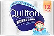 Quilton 3 Ply White Paper Towel (60 Sheets per Roll), 12 count, Pack of 12