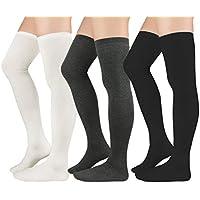 Womens Thigh High Stockings Knee High Boot Socks Leg Warmers for Women