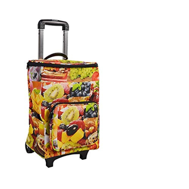 折りたたみショッピングカート、断熱収納バッグ、食料雑貨ランドリーユーティリティカートアルミ合金フレーム付き多段速折りたたみ式トロリードリー