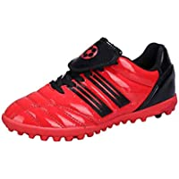Aiweijia Unisex Kids' Outdoor/Indoor Wear Resistant Rubber Sole Soccer Shoes
