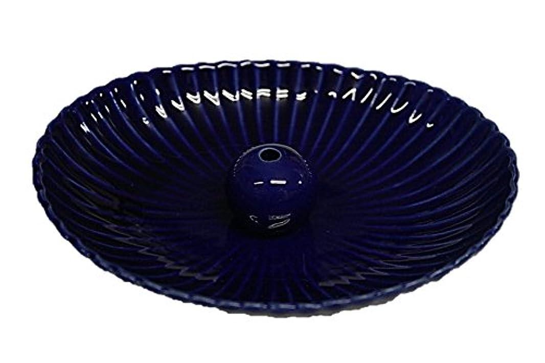 殺す配送進化瑠璃色 楕円皿 日本製 製造?直売 お香立て お香たて 陶器 少し深めな香皿