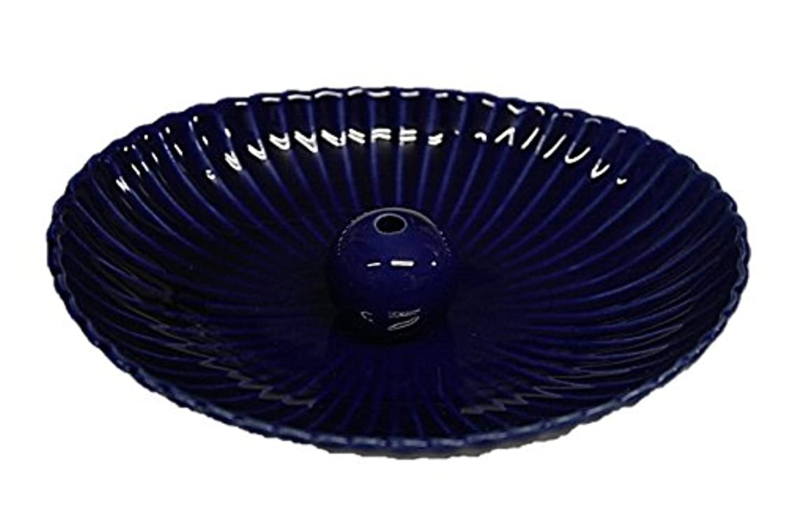 入学する宿題をするいちゃつく瑠璃色 楕円皿 日本製 製造?直売 お香立て お香たて 陶器 少し深めな香皿
