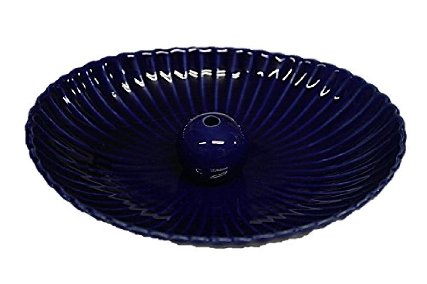 砂利極貧嵐の瑠璃色 楕円皿 日本製 製造?直売 お香立て お香たて 陶器 少し深めな香皿