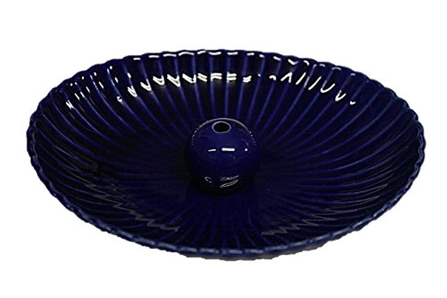 省狭い昇る瑠璃色 楕円皿 日本製 製造?直売 お香立て お香たて 陶器 少し深めな香皿