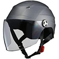 リード工業(LEAD) バイクヘルメット ジェット SERIO シールド付きハーフヘルメット スモーキーシルバー RE4…