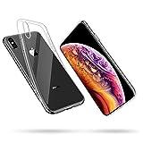 Mofive iPhone XS ケース/iPhone X ケース 5.8インチソフトカバー バンパー 透明 高品質TPU 耐衝撃 落下防止 防指紋 全面保護カバー(iPhone XSクリア)