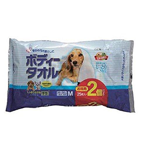 アイリスオーヤマ ボディタオル小型犬猫用25枚2P BWT-25M×2