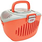 Living World Paws2Go Cat or Small Pet Carrier, Pink/Grey