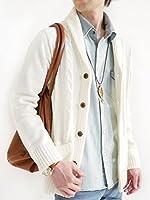 (モノマート) MONO-MART ショール襟 カーディガン スプリング ケーブル編み ゆる コーディガン モード デザイナーズ メンズ